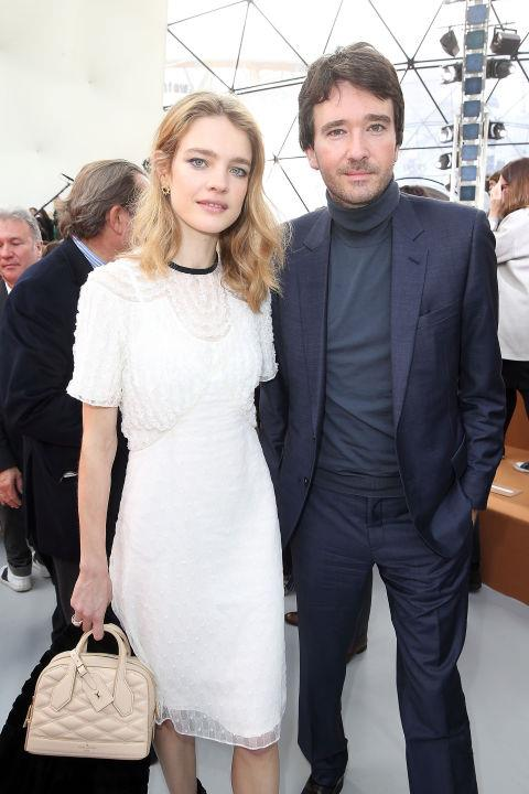 <strong>NATALIA VODIANOVA AND ANTOINE ARNAULT</strong> At Louis Vuitton.