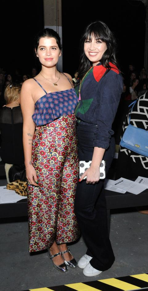 <strong>DAISY LOWE AND PIXIE GELDOF</strong> At House of Holland.