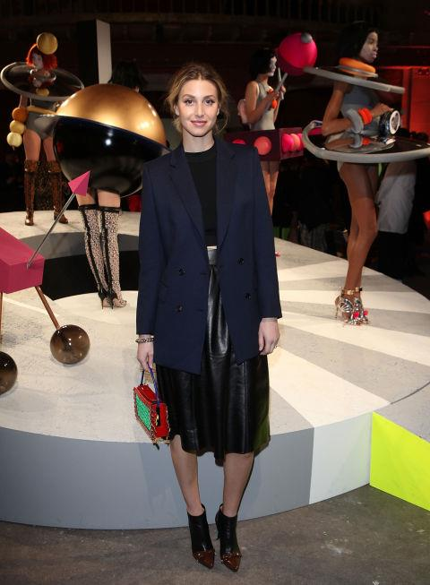 <strong>WHITNEY PORT</strong> At Sophia Webster.