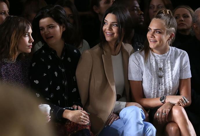 <strong>ALEXA CHUNG, PIXIE GELDOF, KENDALL JENNER AND CARA DELEVINGNE</strong> At Topshop Unique
