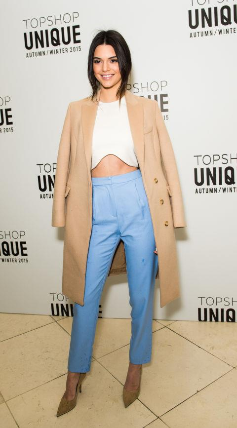 <strong>KENDALL JENNER</strong> At Topshop Unique.