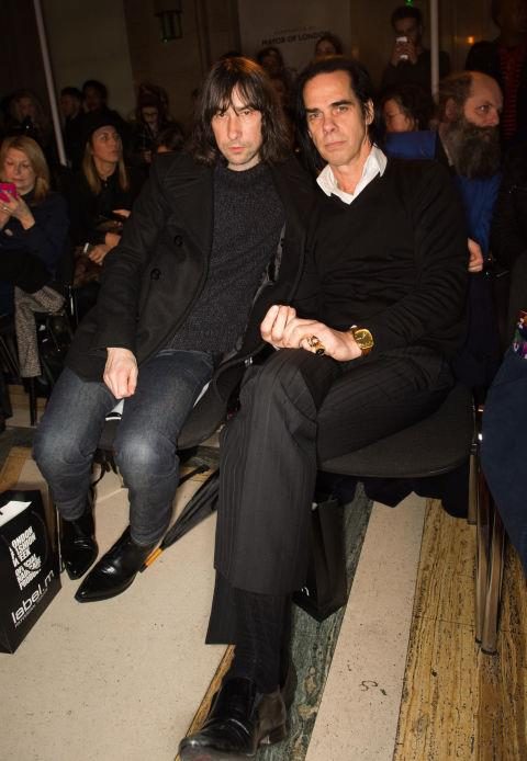 <strong>BOBBY GILLESPIE AND NICK CAVE</strong> At Pam Hogg.
