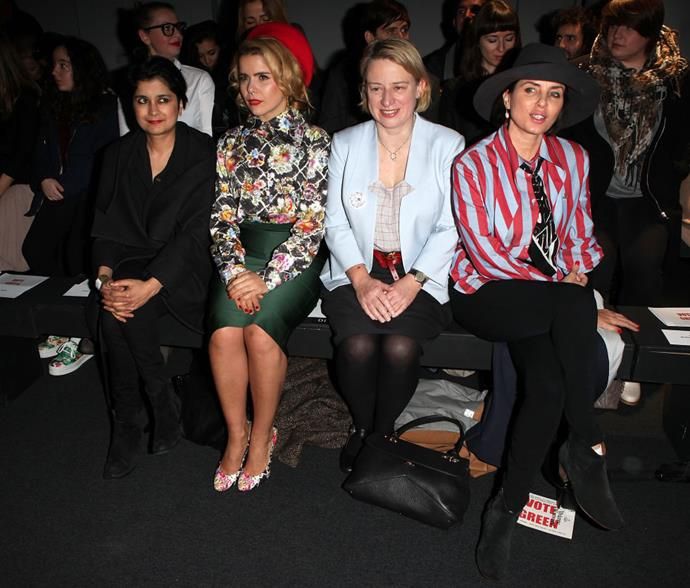 <strong>SHAMI CHAKRABARTI, PALOMA FAITH, NATALIE BENNETT AND SADIE FROST</strong> At Vivienne Westwood.