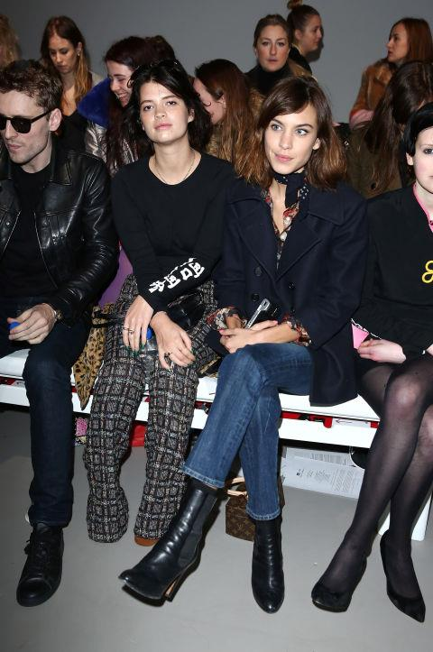 <strong>PIXIE GELDOF AND ALEXA CHUNG</strong> At Ashley Williams.