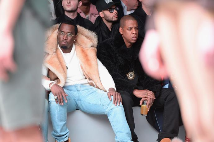 <strong>SEAN COMBS AND JAY-Z</strong> At Adidas Originals x Kanye West.