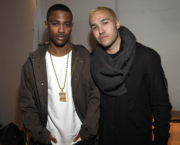 <strong>BIG SEAN AND PETE WENTZ</strong> At Adidas Originals x Kanye West.