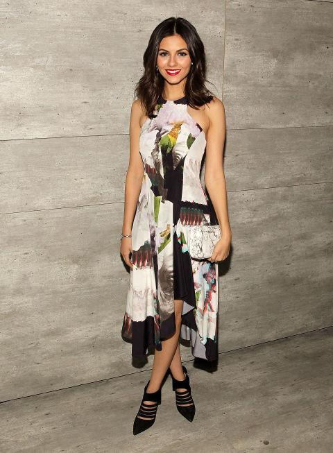 <strong>VICTORIA JUSTICE</strong> At Rebecca Minkoff.