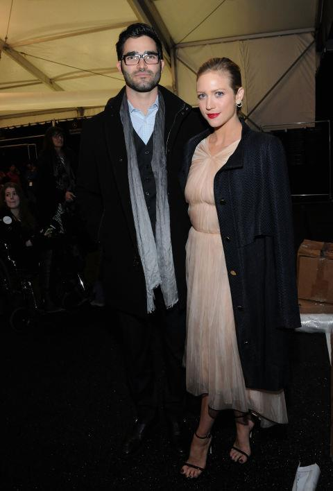 <strong>TYLER HOECHLIN AND BRITTANY SNOW</strong> At Monique Lhuillier.