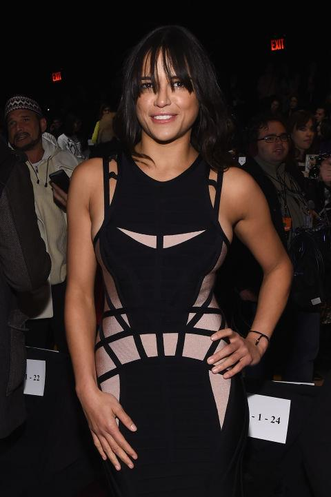 <strong>MICHELLE RODRIGUEZ</strong> At Hervé Leger By Max Azria.