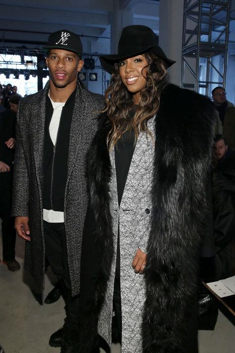 <strong>VICTOR CRUZ AND KELLY ROWLAND</strong> At Public School.