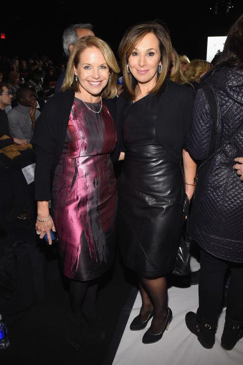 <strong>KATIE COURIC AND ROSANNA SCOTTO</strong> At Carmen Marc Valvo.