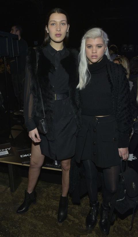 <strong>BELLA HADID AND SOFIA RICHIE</strong> At DKNY.