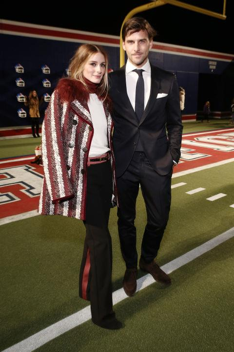 <strong>OLIVIA PALERMO AND JOHANNES HUEBL</strong> At Tommy Hilfiger.