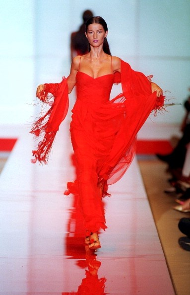 <strong>Valentino Haute Couture Autumn/Winter 1999</strong> <br> In Valentino red for fall '99 Couture.