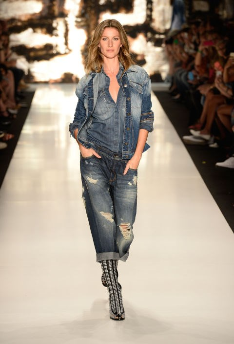 <strong>Colcci Autumn/Winter 2015</strong><br> Gisele made her most recent turn on the runway for Colcci's fall 2015 collection in Sao Paulo. (She's a close friend of the Brazilian brand.)