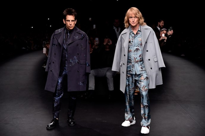 9. Never say never. <br><br>Zoolander walk off on the Valentino runway? It happened.