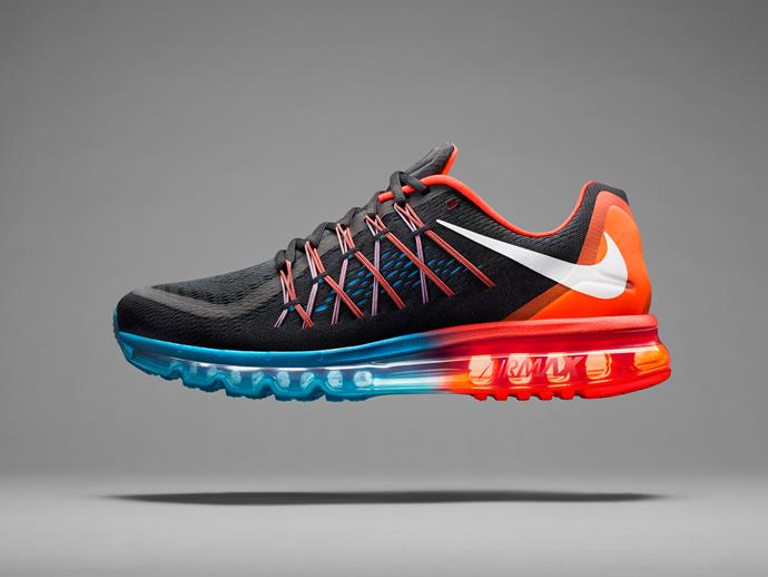 The Air Max 2015 is as much about reinvention as it is about revolution. The performance running shoe features an upper that matches the dynamic motion of the flexible, ultra-comfortable Max Air cushioning that debuted in 2013. The first Air Max with a breathable, lightweight, fully engineered and almost seamless mesh upper works in tandem with Nike Flywire technology to wrap the foot. The shoe offers a plush, bouncy ride that uses tubular construction and flex grooves for the latest standard of maximum. Even the reverse Swoosh subverts familiarity and signs off on a new generation of expression.