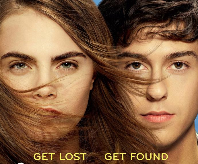 Cara Delevingne and Nat Wolff in the poster for Paper Towns