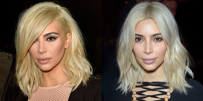 As Paris Fashion Week progressed, so did the blondness of <strong>Kim Kardashian</strong>'s hair. It looks like it took a few trips to the salon to get her desired result: an icy platinum blonde that is much more white than golden.