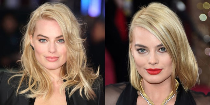 <strong>Margot Robbie</strong> stepped onto the Oscar red carpet with a blunt long bob that was just cut earlier that day—and we're already obsessed.