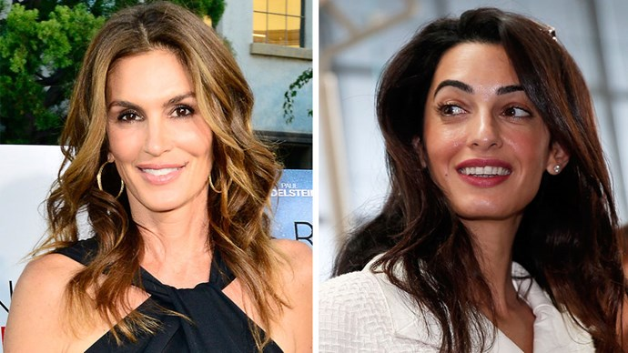 Cindy Crawford and Amal Clooney