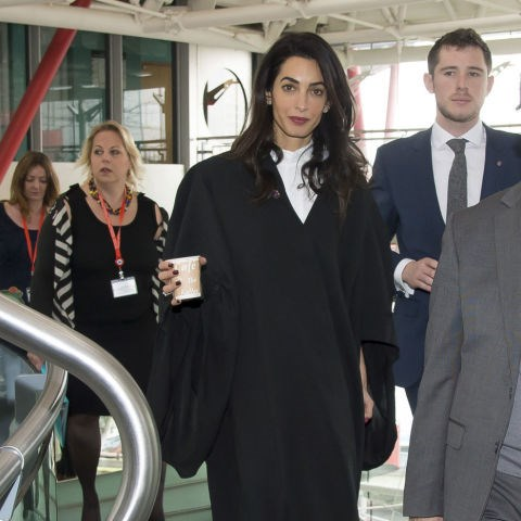 <strong>JANUARY 28, 2015</strong> Arriving at the European Court of Human Rights in Strasbourg in her Ede & Ravenscroft legal robes.