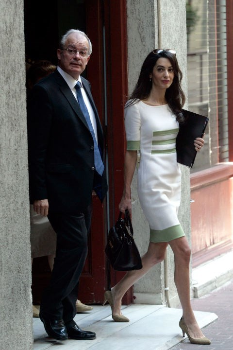 <strong>OCTOBER 14, 2014</strong> Leaving a meeting with Greece's Minister of Culture, Konstantinos Tasoulas.