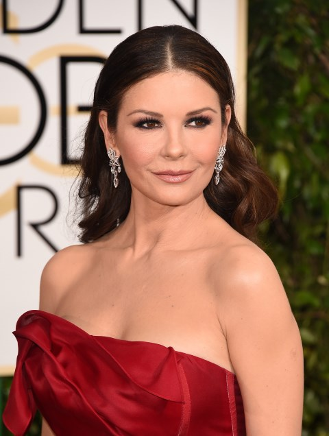 """<strong>CATHERINE ZETA-JONES</strong> <BR> The secret to the actress's lush, brown mane will have you reaching inside the fridge for a cold one. """"I condition my hair with honey and beer,"""" <a href=""""http://www.dailymail.co.uk/tvshowbiz/article-1128664/The-beer-shampoo-strawberry-toothpaste-keeps-Catherine-Zeta-Jones-looking-youthful.html"""">confessed </a>Zeta-Jones. """"I smell like the bottom of a beer barrel for days afterwards but it's very good for the hair."""" <BR> <strong>The Verdict:</strong> Beer is filled with vitamins and proteins that enrich hair <em>and </em>make it shinier. However, it will inevitably leave your coif smelling like your local watering hole. But hey, if that doesn't deter you, we say go for it."""