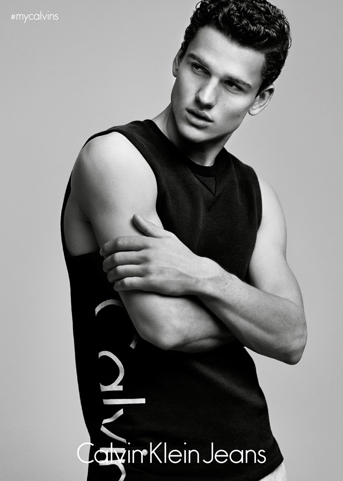 """You may recognise <strong>Simon Nessman</strong> from <strong>Giorgio Armani'</strong>s <em>Acqua Di Gio Essenza</em> <a href=""""https://www.youtube.com/watch?v=amqKWr8cO3I"""">fragrance campaign</a>."""