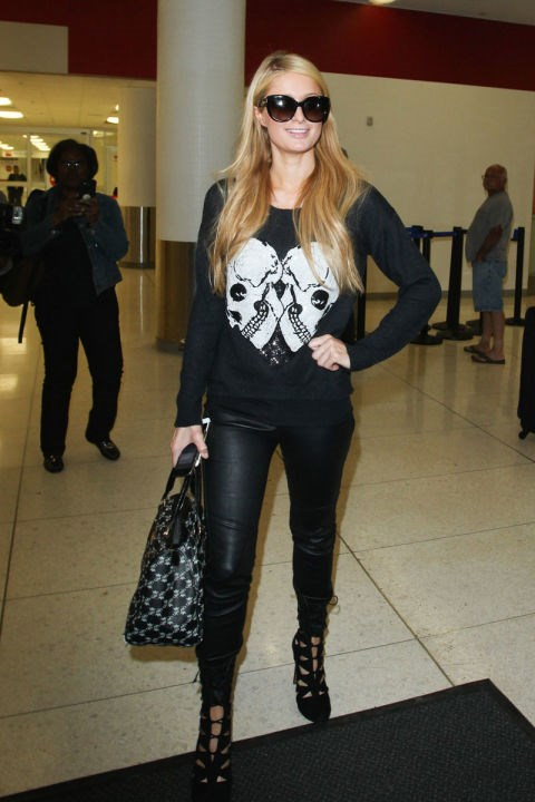 <strong>PARIS HILTON</strong> <BR> A statement sweatshirt is comfy and chic.