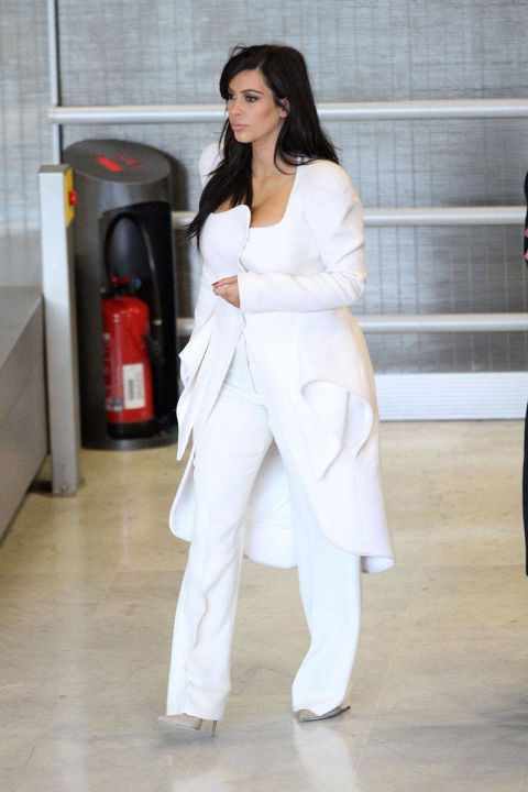 <strong>KIM KARDASHIAN</strong> <BR> Kanye's lady continues to rise up the style ladder in a majorly chic all-white ensemble.
