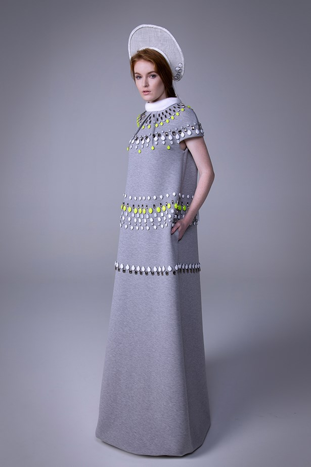 "<strong>Name: Jai Saunders</strong> <br> Age: 27 <br> Label: Jai Saunders <br> Inspirations: 1900s photographic portraits of Russian folk costume, New York skyline in winter and re-imagined traditional embellishments – a clash of nostalgia and modernity. <br> Idols: Diana Vreeland – ""Exaggeration is my only reality."" What a legend! <br> Soundtrack: ""Trick Pony"" by Charlotte Gainsbourg, produced by Beck. <br> Motto: ""Don't trust people with mottos..."""