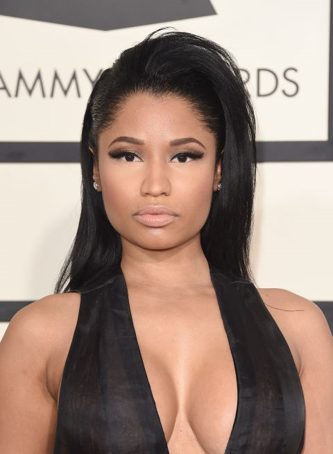 Combine a front flip with stick-straight strands, like Nicki Minaj