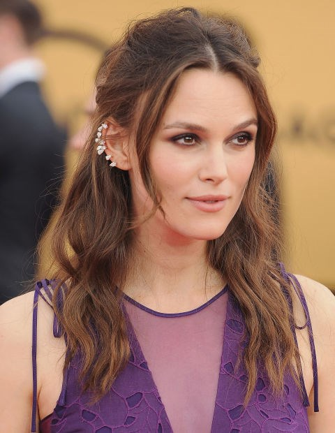 Let loose pieces peek out, like Keira Knightley
