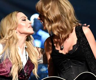 Madonna and Taylor Swift perform together, wear matching lingerie
