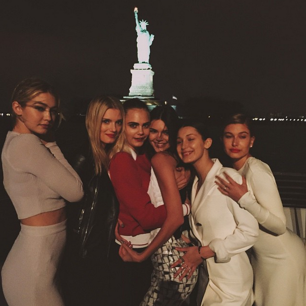Gigi Hadid, Lily Donaldson, Cara Delevingne, Kendall Jenner, Bella Hadid and Hailey Baldwin<br><br> Source: @kendalljenner