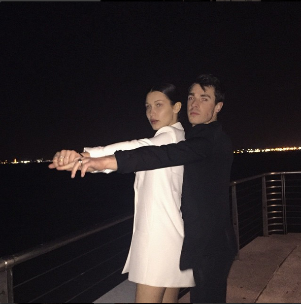 #Titanic with Bella Hadid and Remi Barbier <br><br> Source: @bellahadid