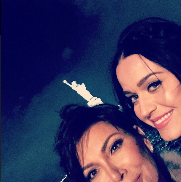 Kris Jenner and Katy Perry <br><br> Source: @krisjenner