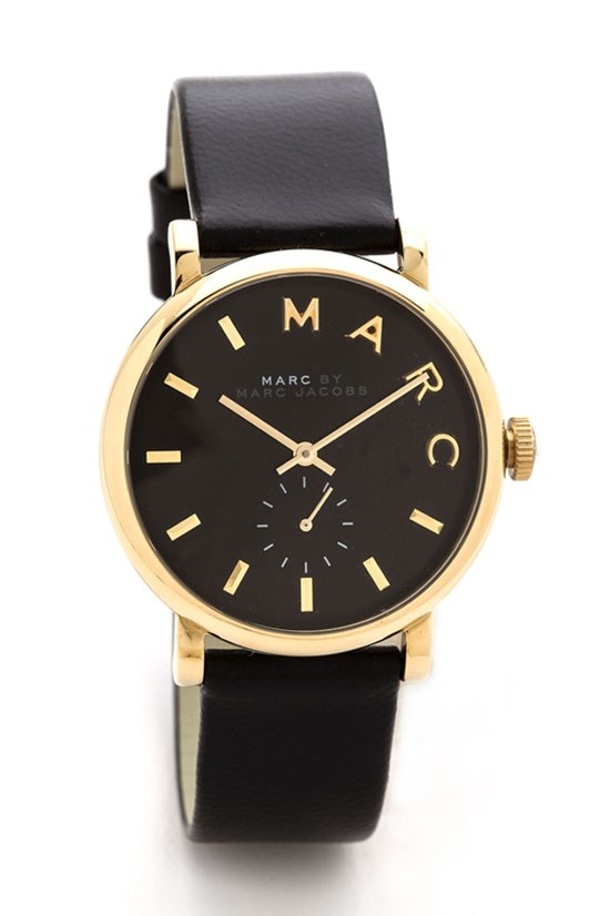 "Leather Baker watch, $260.87, Marc by Marc Jacobs, <a href=""http://www.shopbop.com/leather-baker-watch-marc-by/vp/v=1/1575522153.htm?folderID=2534374302055823&fm=other&colorId=12867"">www.shopbop.com</a>"