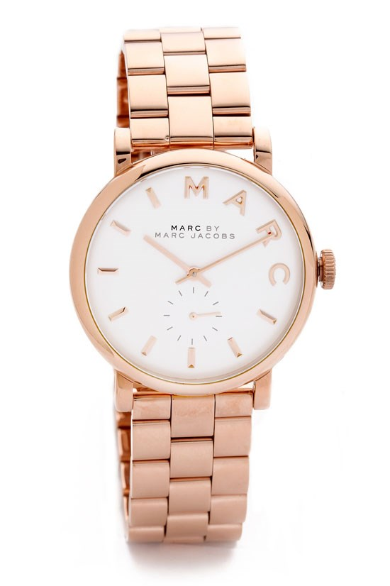 "Baker watch, $301, Marc by Marc Jacobs, <a href=""http://www.shopbop.com/baker-watch-marc-by-jacobs/vp/v=1/1526167254.htm?folderID=2534374302055823&fm=other&colorId=11784"">www.shopbop.com</a>"