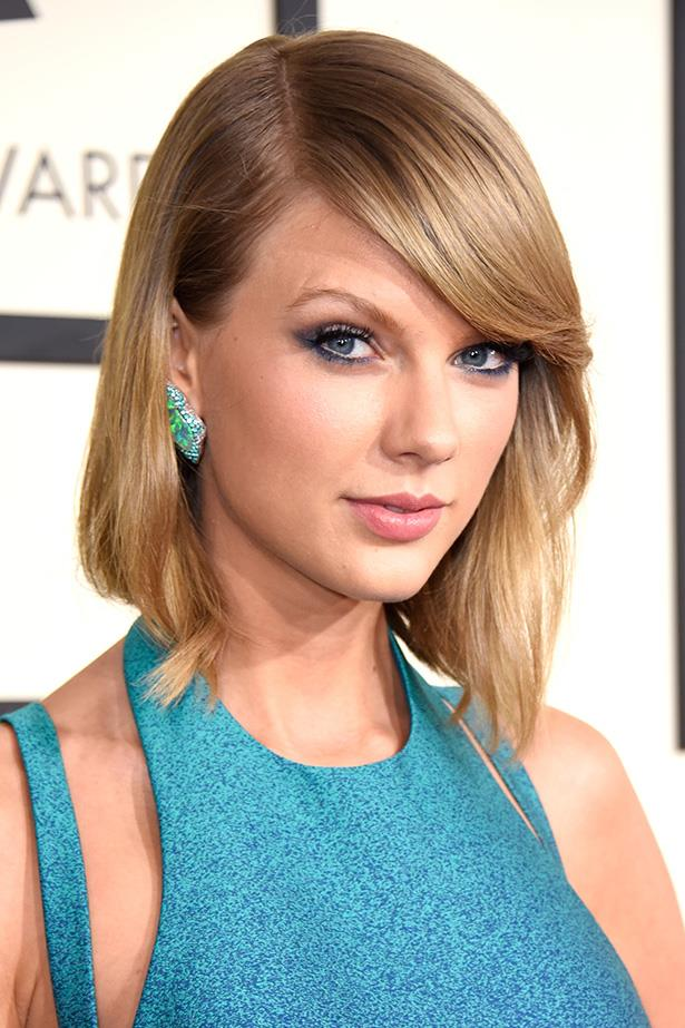 Make like Taylor Swift and adorn your lids with turquoise, the colour that never goes out of style.