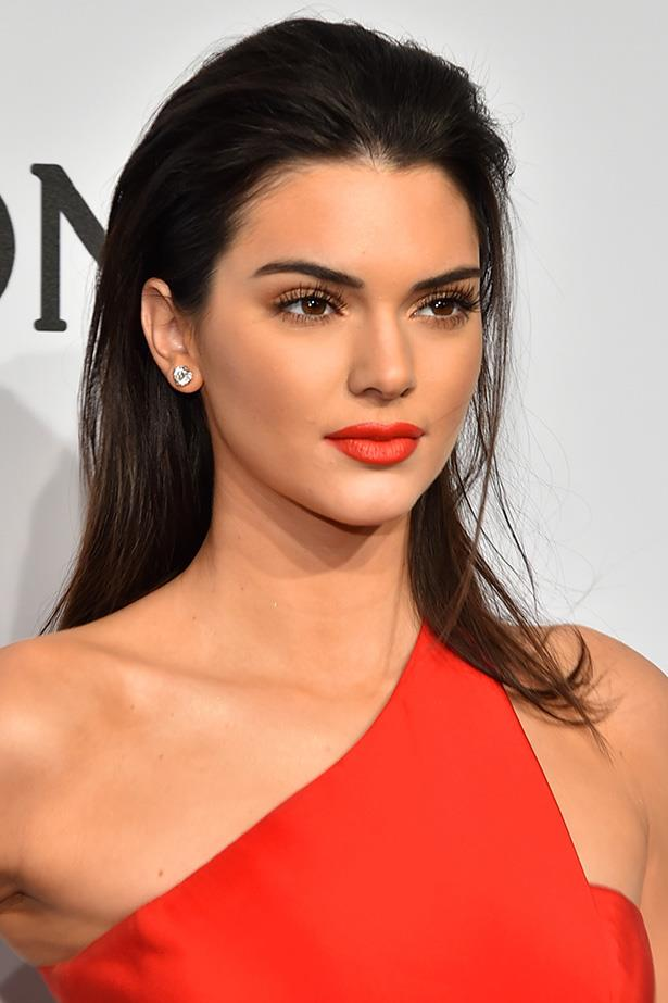 Like Kendall Jenner, if you've gone all out with a statement red dress you'd better go all the way with a striking red lip. All eyes over here, <em>please</em>.