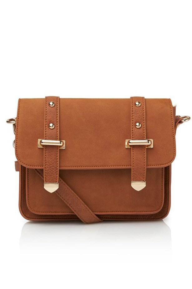 """Bag, $39.95, Sportsgirl, <a href=""""http://www.sportsgirl.com.au/jones-satchel-tan-all """">sportsgirl.com.au</a>"""