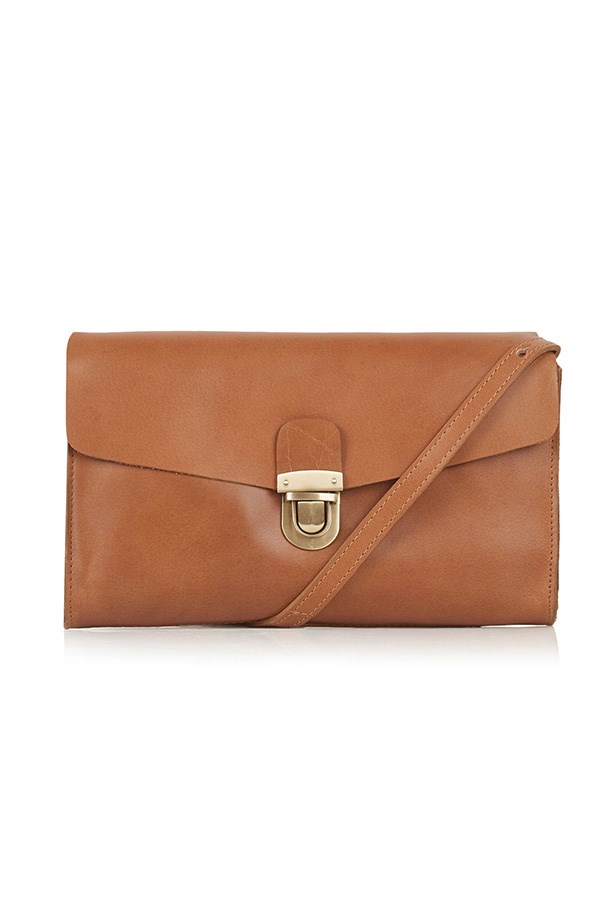 "Bag, $65, Topshop, <a href=""http://www.topshop.com/webapp/wcs/stores/servlet/ProductDisplay?refinements=category~%5b204484%7c-12556%5d&searchTerm=tan&storeId=12556&productId=18768829&urlRequestType=Base&categoryId=&parent_categoryId=204484&langId=-1&productIdentifier=product&catalogId=33057 "">topshop.com</a>"