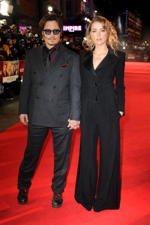 <strong>Johnny Depp and Amber Heard in 2015</strong> <em>Getty</em>