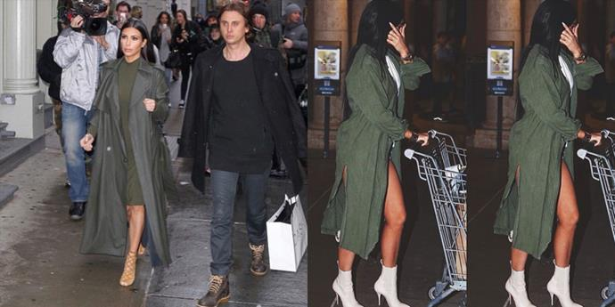 <strong>GREEN TRENCH COAT TWINS</strong>