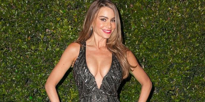 Sofia Vergara sports a plunging neckline