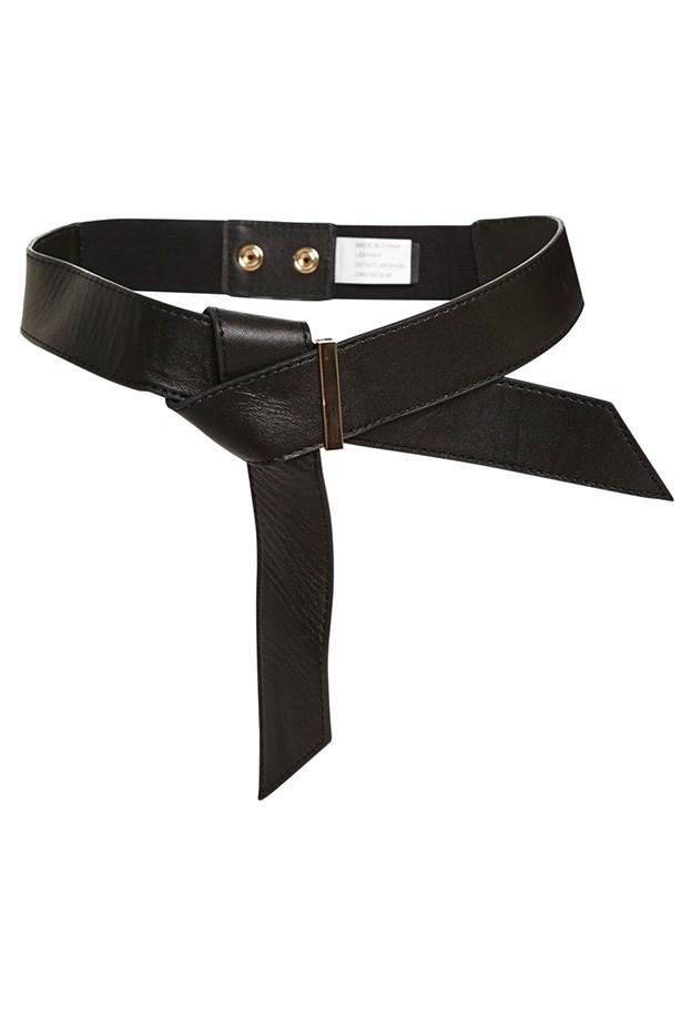 "Belt, $49.95, Bardot, <a href=""http://www.bardot.com.au/Leather-Obi-Belt.aspx?p552452&cr=045944"">Bardot.com.au</a>"