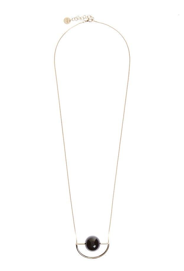 "Necklace, $79, Saba, <a href=""http://www.saba.com.au/luna-necklace-WAW1543.html?dwvar_WAW1543_color=BLACKGOLD&dwvar_WAW1543_size=ONESIZE "">saba.com.au</a>"