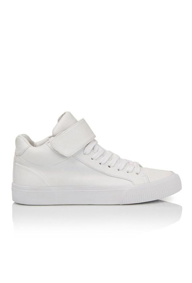 """Sneakers, $59.95, Sportsgirl, <a href=""""http://www.sportsgirl.com.au/retro-wrap-sneaker-white """">sportsgirl.com.au</a>"""